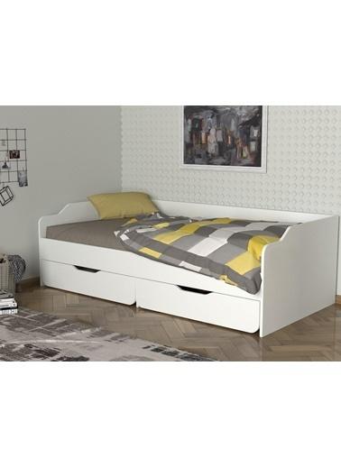 Dekorister Exclusive Young Karyola Beyaz - 90*190 cm Beyaz